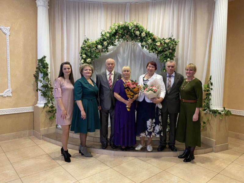 В Бобруйске чествовали семейные пары, прожившие в браке 50 лет