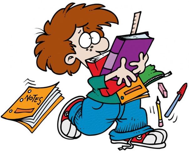 Смешные мультяшные картинки о школе