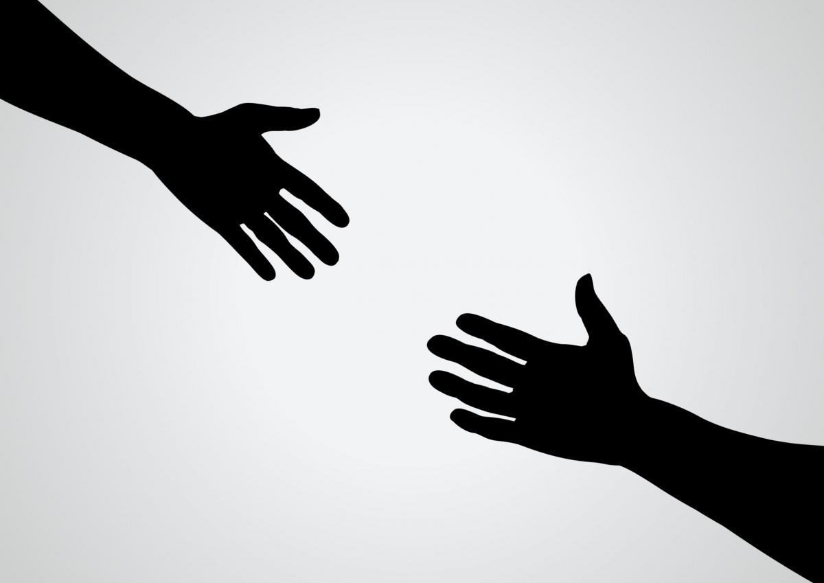 Картинки рука помощи на белом фоне