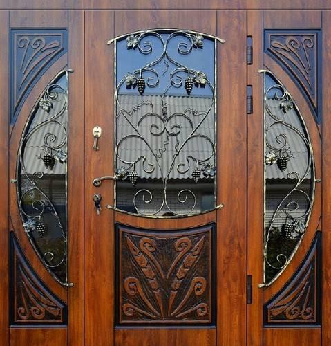 элитные металлические широкие двери